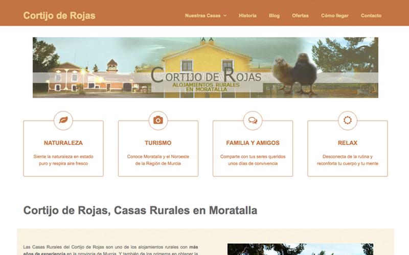 Web de las casas rurales del cortijo de rojas de moratalla